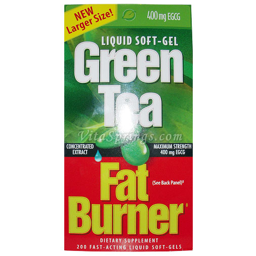 Green Tea Fat Burner 200 Liquid Soft-Gels (Maximum Strength 100% Pure)