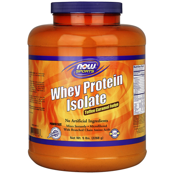 Whey Protein Isolate - Toffee Caramel Fudge, 5 lbs
