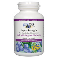 BlueRich Organic Blueberry Concentrate, 90 Softgels, Natural Factors