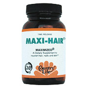 Maxi Hair Maximized, Time Release, 60 Tablets, Country Life