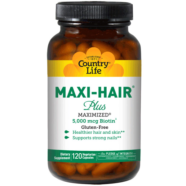 Maxi-Hair Plus, 120 Vegetarian Capsules, Country Life