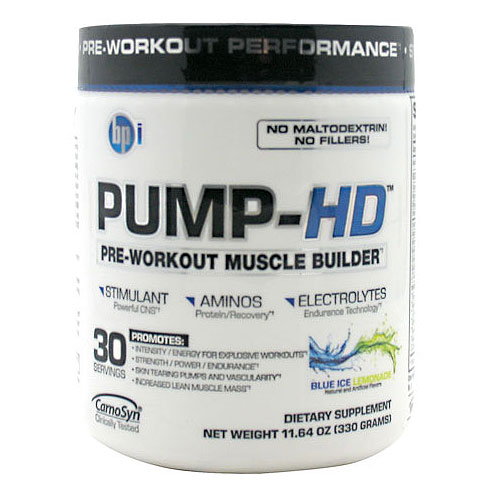 Pump-HD, Pre-Workout Muscle Builder, 30 Servings, BPI Sports