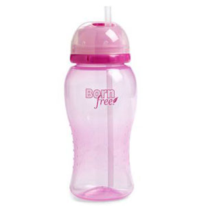 14 oz Twist'n Pop Baby Straw Cup - Pink, 1 ct, BornFree (Born Free)
