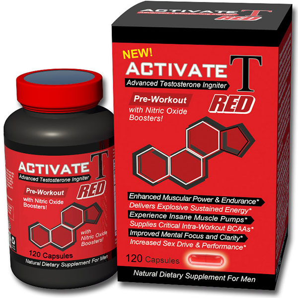 Activate T Red, Advanced Testosterone Igniter, 120 Capsules, Fusion Diet Systems