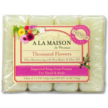 Eco bags natural cotton soap bag 4 x 425 1 bag for A la maison thousand flowers