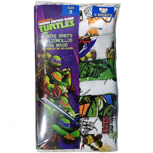 Boy's Briefs Teenage Mutant Ninja Turtles Underwear, 8 Pack
