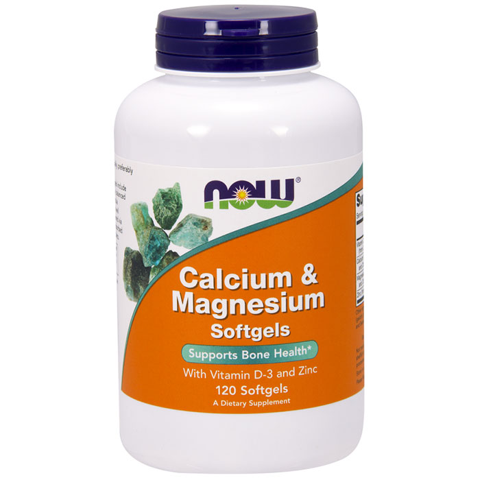 calcium magnesium vitamin d 120 softgels now foods day of health 110 s. Black Bedroom Furniture Sets. Home Design Ideas