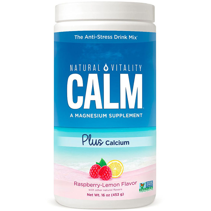 Natural Calm Plus Calcium, Raspberry Lemon, 16 oz, Peter Gillham's Natural Vitality