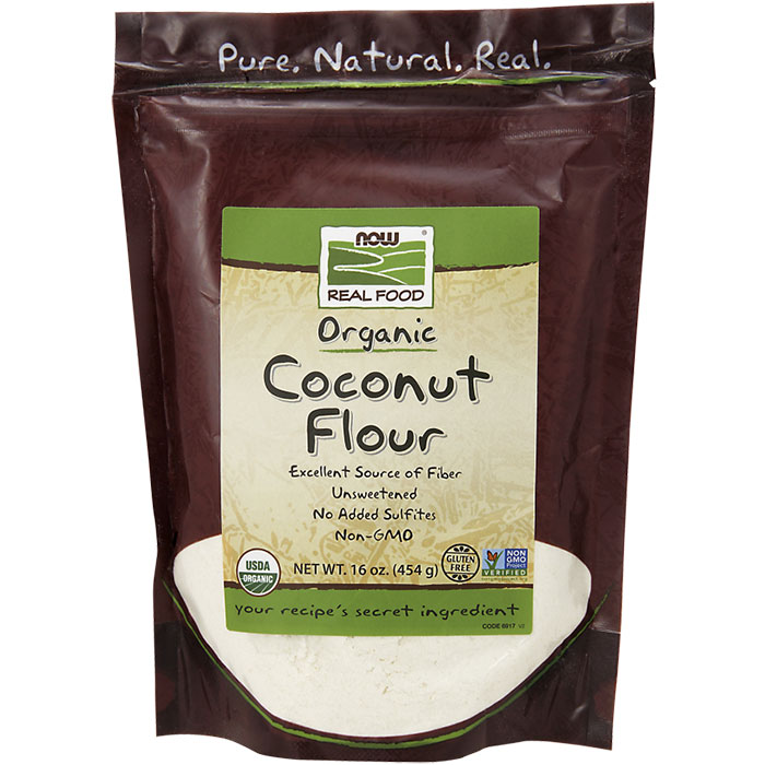 Coconut Flour, Organic, 16 oz, NOW Foods