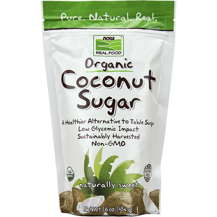 Coconut Sugar, Organic, 16 oz, NOW Foods