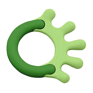 Cornstarch Hand Teether, Green, Green Sprouts Baby Products
