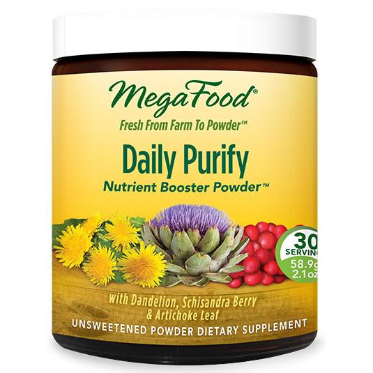 Daily Purify, Whole Food Detoxify Powder, 30 Servings (58.9 g), MegaFood