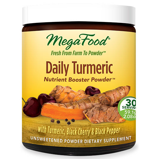 Daily Turmeric, Nutrient Booster Powder, 30 Servings (59.1 g), MegaFood