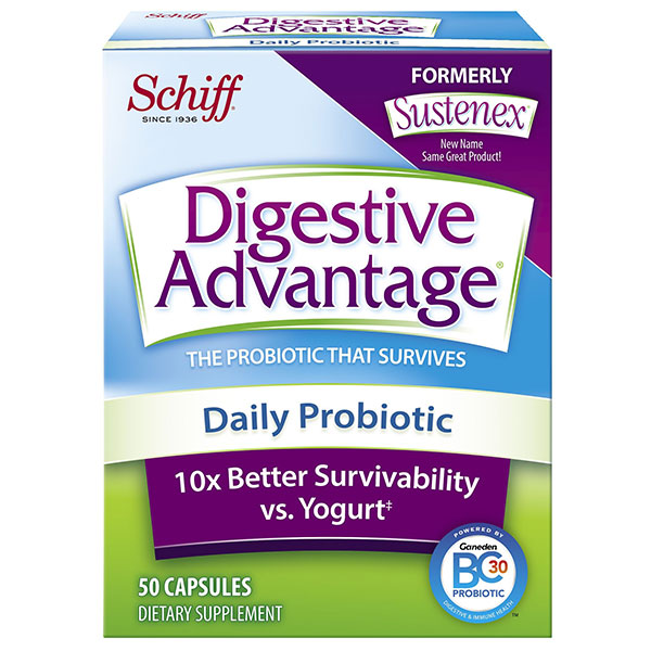 Digestive Advantage Daily Probiotic, 50 Capsules, Schiff