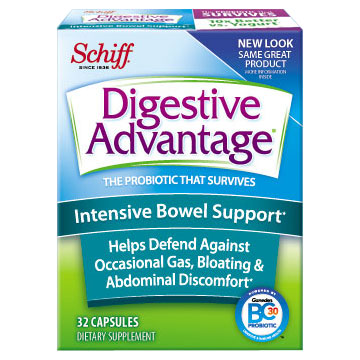 Digestive Advantage Intensive Bowel Support, 32 Capsules, Schiff