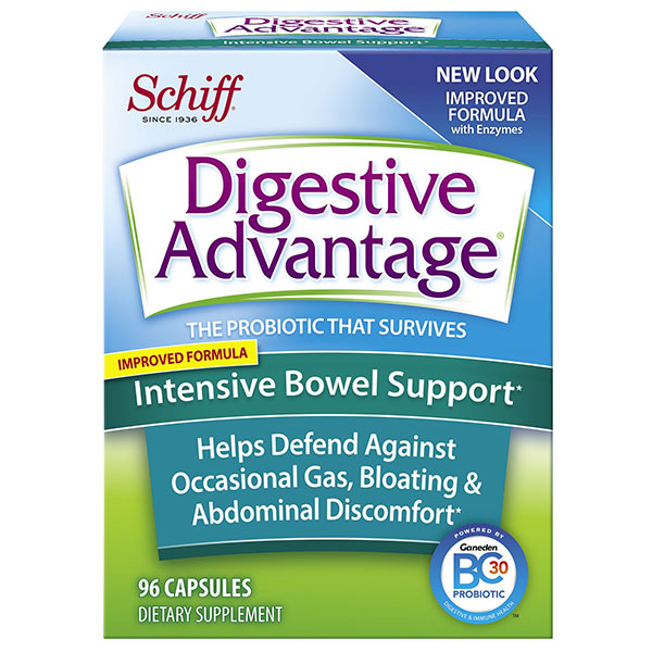 Digestive Advantage Intensive Bowel Support, 96 Capsules, Schiff