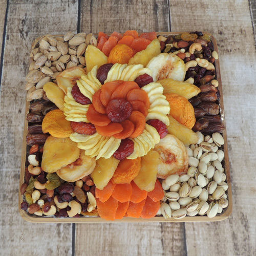 Dried Fruit & Nut Gift Basket, 60 oz, Vacaville Fruit Company