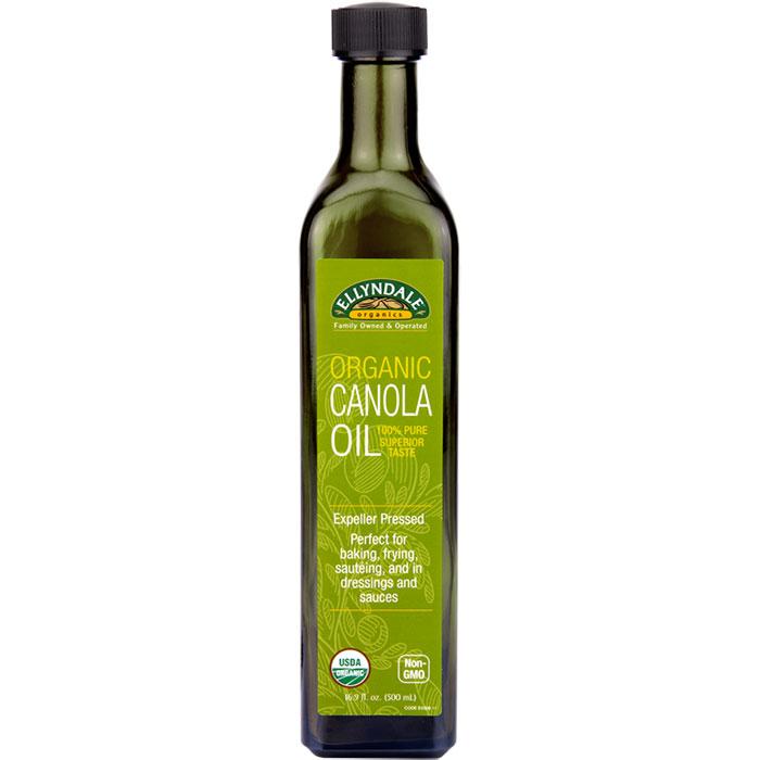 Ellyndale Organics Canola Oil, 16.9 oz x 6 Bottles, NOW Foods