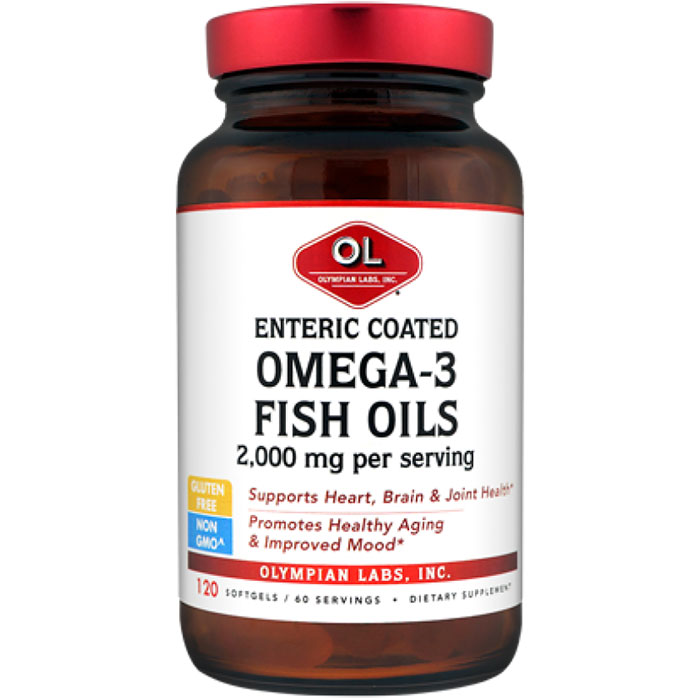 Enteric coated omega 3 fish oils 1000mg 120 softgels for Enteric coated fish oil