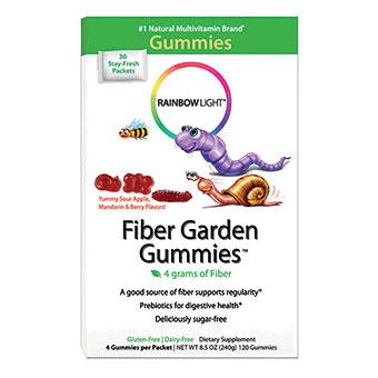 Fiber Garden Gummies For Children 30 Packets Rainbow