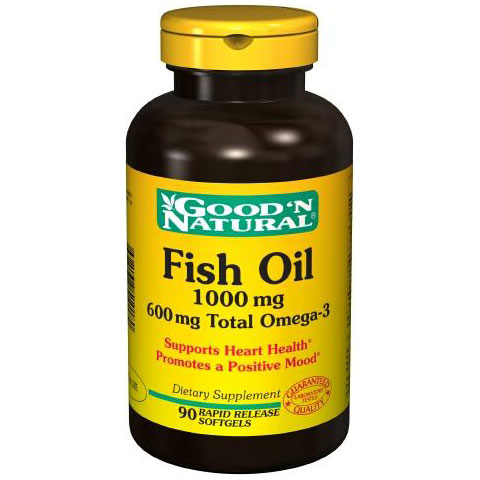 Fish oil 1000 mg 600 mg total omega 3 90 softgels good for How much fish oil a day