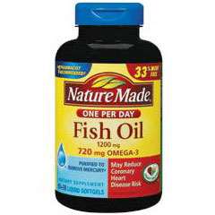 031604026318 upc pharmavite nature made one per day fish for How many mg of fish oil per day