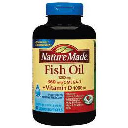 Fish oil 1200 mg vitamin d 1000 iu 90 softgels nature for Nature made fish oil 1000 mg