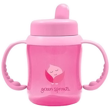Flip-Top Sippy Cup, Pink, 6 oz, Green Sprouts Baby Products