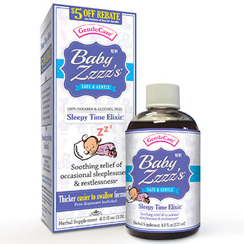 Gentle Care Baby Zzzz's Paraben Free, 4 oz, All Natural Baby Care