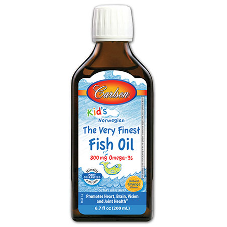 Kids finest fish oil liquid orange 200 ml carlson for Carlson fish oil liquid
