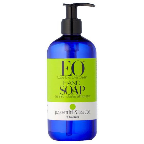 Liquid hand soap peppermint amp tea tree 12 oz eo products