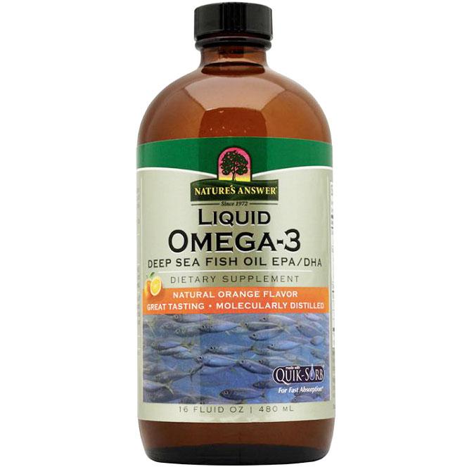 Liquid omega 3 deep sea fish oil epa dha 16 oz from nature for Omega 3 fish oil liquid