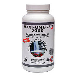 Maxi omega 3 2000 kosher fish oil 100 capsules maxi for Kosher fish oil
