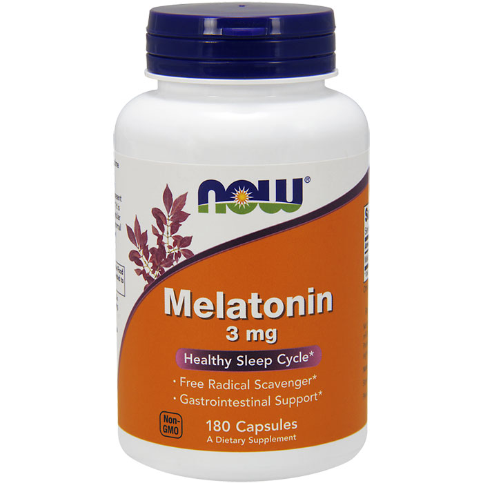 Melatonin 3 mg, 180 Capsules, NOW Foods