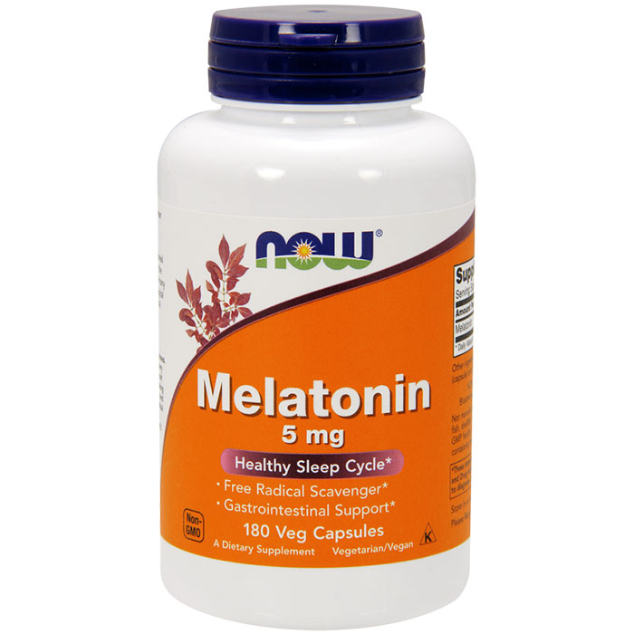 Melatonin 5 mg, 180 Vcaps, NOW Foods