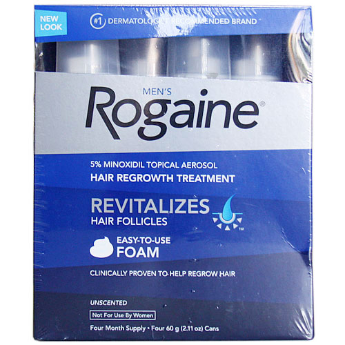 Men's Rogaine Foam Hair Regrowth Treatment, Four Month Supply, 240g