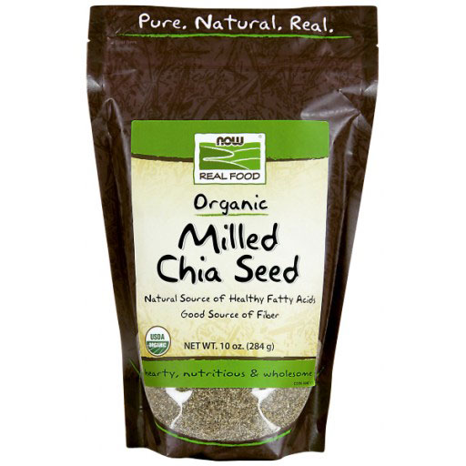 Milled Chia Seed, Organic, 10 oz, NOW Foods
