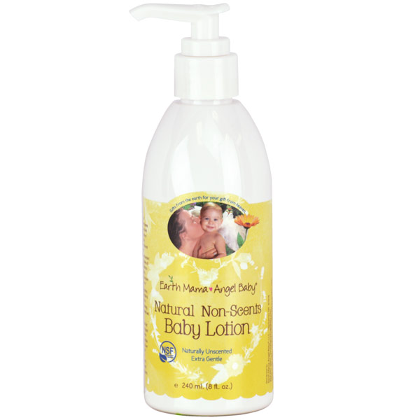 Natural Non-Scents Baby Lotion, 8 oz, Earth Mama Angel Baby