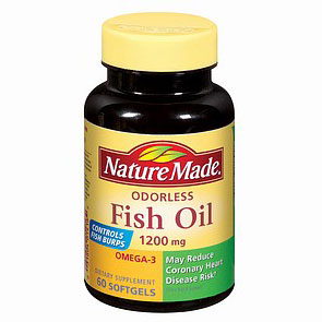 Nature made fish oil odorless 1200 mg 60 softgels day for Odorless fish oil