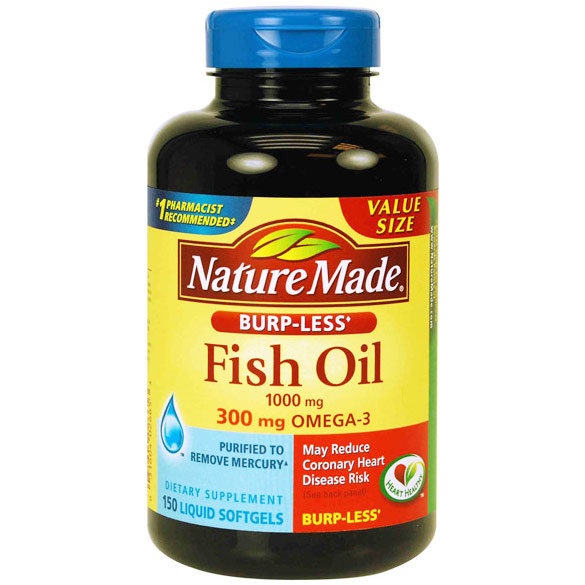Nature made folic acid with dha 60 softgels day of for How much fish oil a day