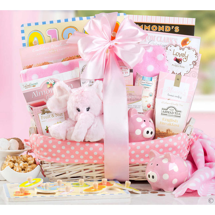 Good New Baby Gift Ideas : Baby girl baskets easy gourmet cooking popular