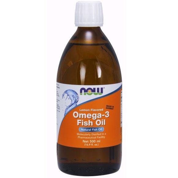 Omega 3 fish oil liquid lemon flavored 16 9 oz now for Lemon fish oil
