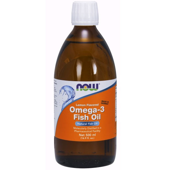 Omega 3 fish oil liquid lemon flavored 16 9 oz now for Omega 3 fish oil liquid