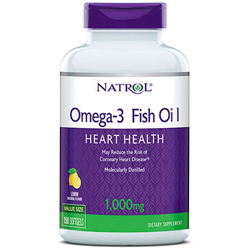 Omega 3 1000mg purified fish oil 150 softgels from natrol for Is omega 3 the same as fish oil