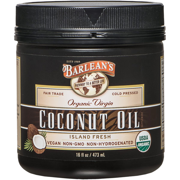 Organic Extra Virgin Coconut Oil, 16 oz, Barlean's Organic Oils