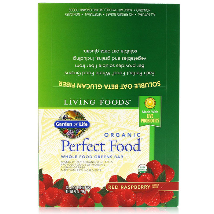 Organic perfect food whole food green bar red raspberry for Food bar garden