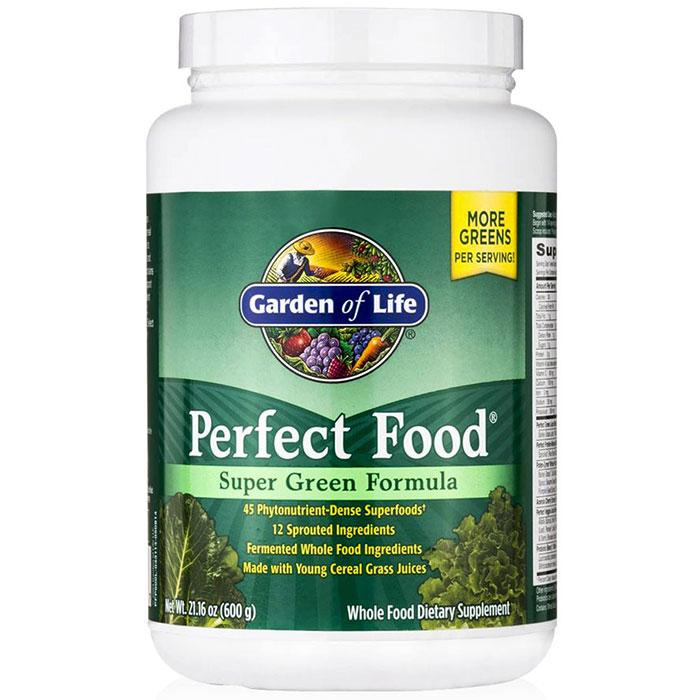 Perfect food super green formula 600 g garden of life for Garden of life super green