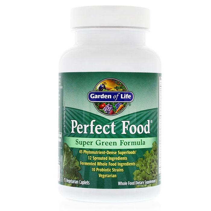 perfect food super green formula 75 caplets garden of