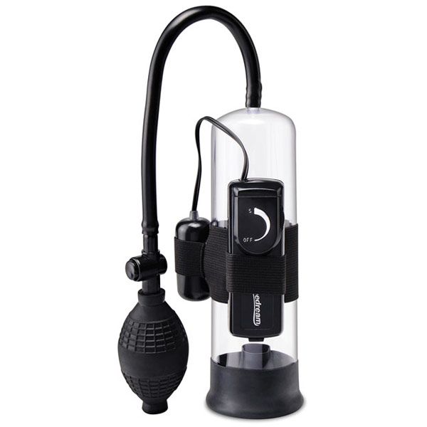 Pump Worx Beginner's Vibrating Penis Pump, Black, Pipedream Products