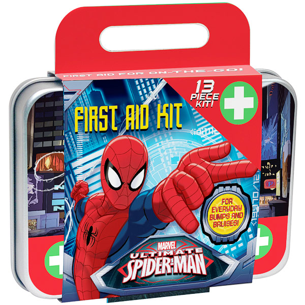 Spiderman Small First Aid Kit, 13 Piece, Health Science Labs